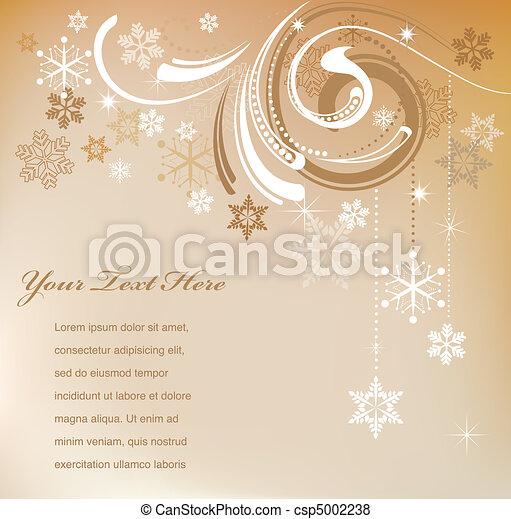 Retro Christmas card - csp5002238