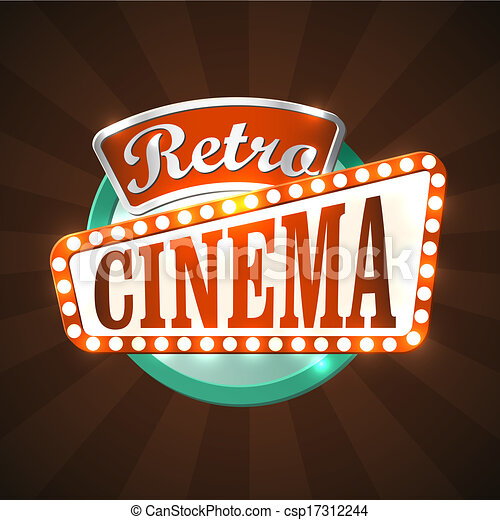 retro, cinéma - csp17312244