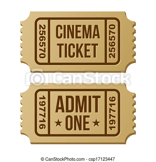 Retro cinema ticket. - csp17123447