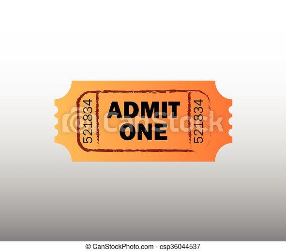Retro cinema ticket  - csp36044537
