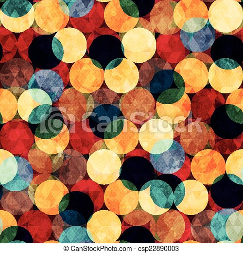 retro circle seamless texture with grunge effect - csp22890003