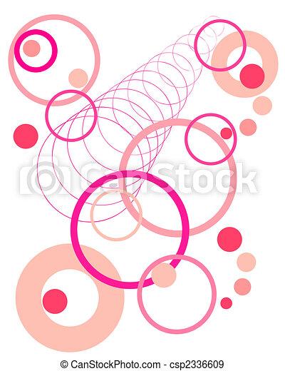 retro circles - csp2336609