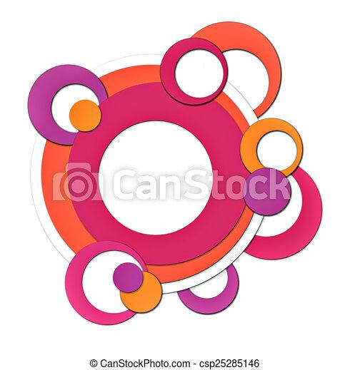 Retro circles - csp25285146