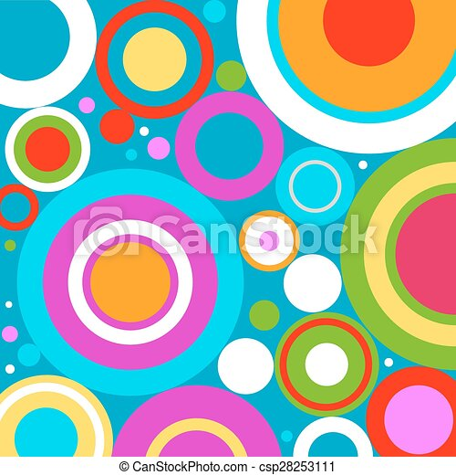 retro circles - csp28253111