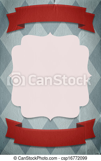 Retro circus style poster template on rhombus background with a space for your text - csp16772099