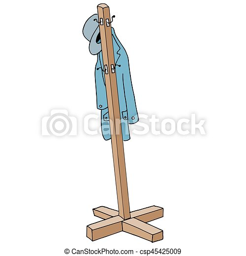An Image Of A Retro Coat Rack Delectable Coat Rack Clipart