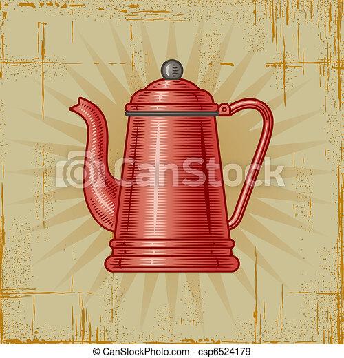 Retro Coffee Pot - csp6524179