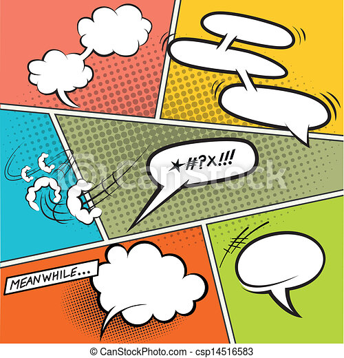 Retro Comic Speech Bubbles - csp14516583