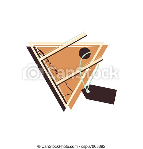 retro commercial tag hanging - csp67065892