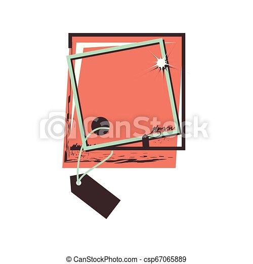 retro commercial tag hanging - csp67065889