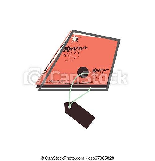 retro commercial tag hanging - csp67065828
