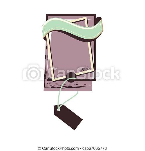 retro commercial tag hanging - csp67065778