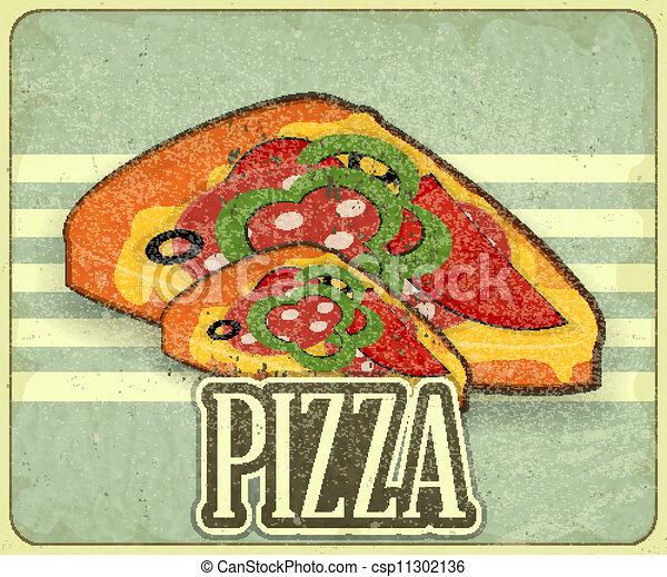 Retro Cover for Pizza Menu - csp11302136