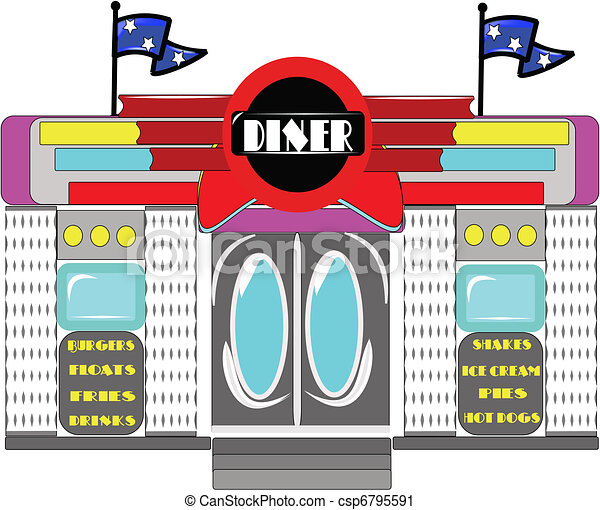 vector illustration of retro diner on white vector clip art search rh canstockphoto co uk dinner cliparts dinner clip art black and white