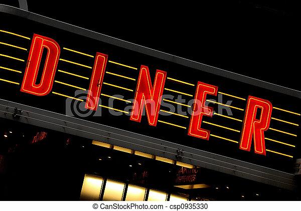 retro DINER sign - csp0935330