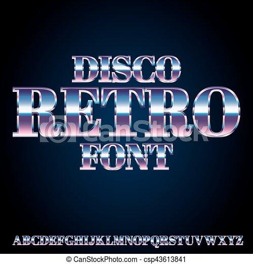 Retro Disco Font