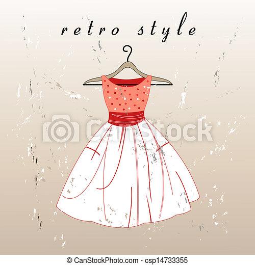 Retro Dress Stock Illustration