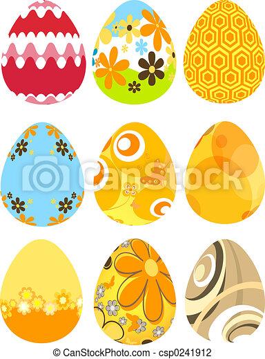 Retro Easter eggs - csp0241912
