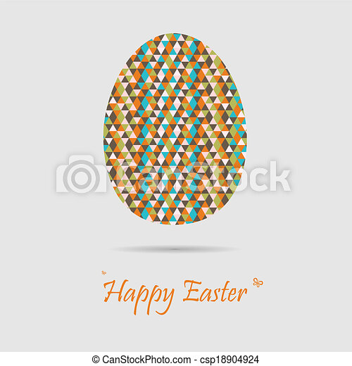 Retro easter greeting cards - csp18904924