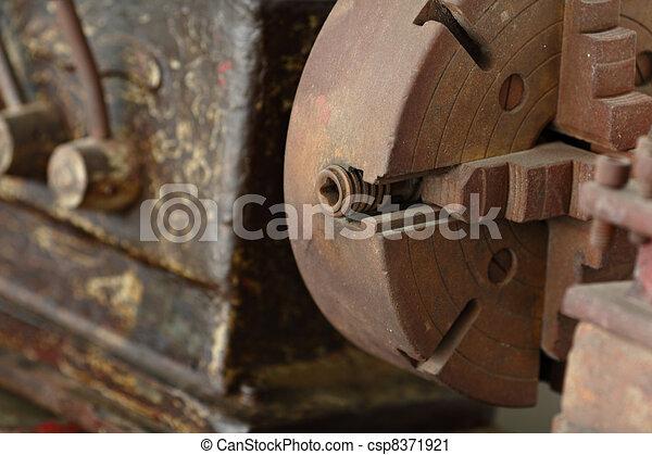retro factory mechanic - csp8371921