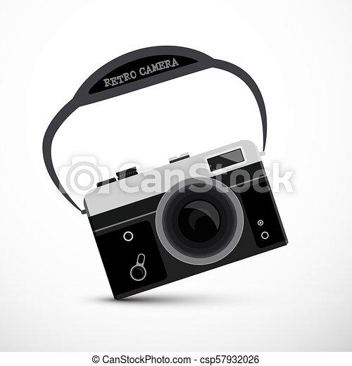 Retro Film or Digital Camera - Vector - csp57932026