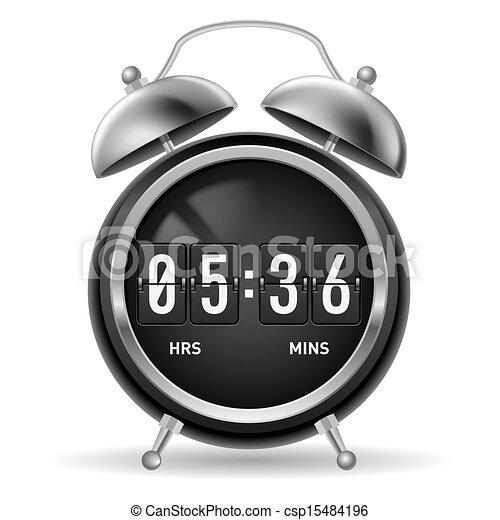 retro flip alarm clock retro round alarm clock with flip numbers instead of face illustration. Black Bedroom Furniture Sets. Home Design Ideas