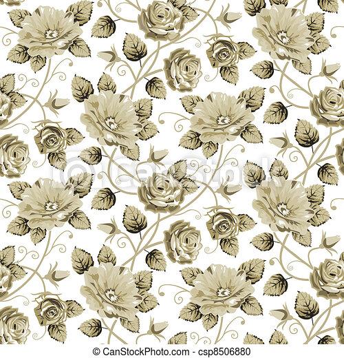 Retro floral pattern - csp8506880
