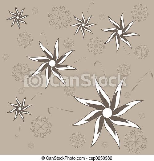 Retro flowers - csp0250382