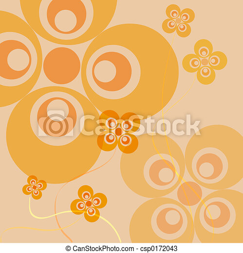 Retro flowers - csp0172043