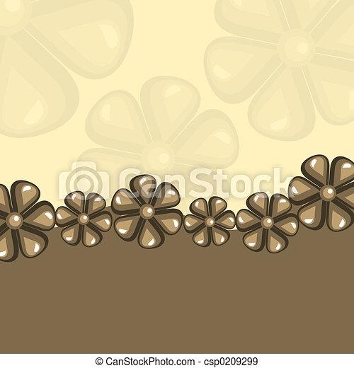 Retro flowers - csp0209299