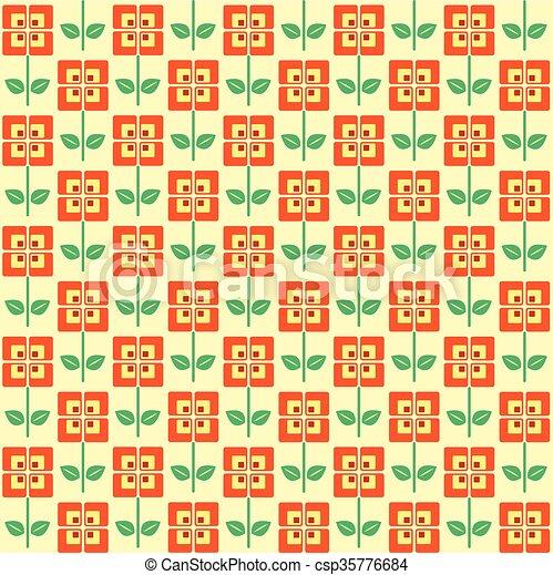 Retro flowers - csp35776684