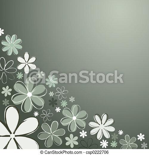 Retro flowers - csp0222706