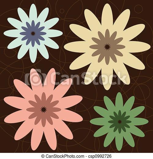 Retro Flowers - csp0992726