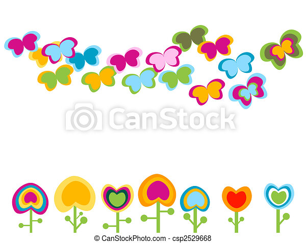 retro flowers - csp2529668