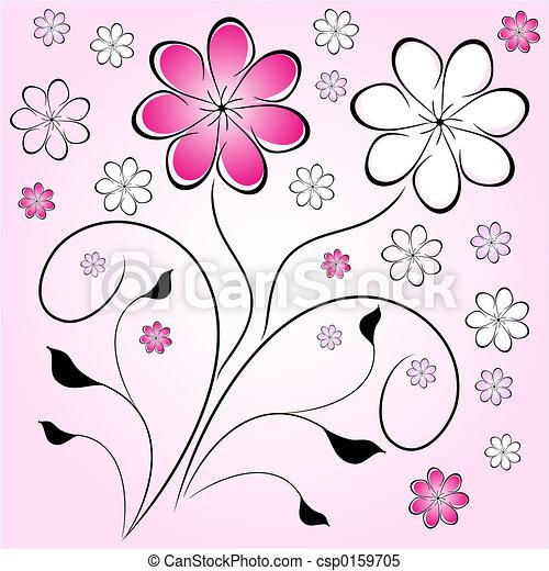 Retro flowers - csp0159705