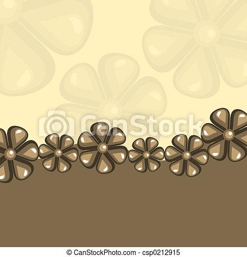 Retro flowers - csp0212915