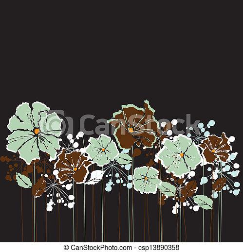 retro flowers - csp13890358
