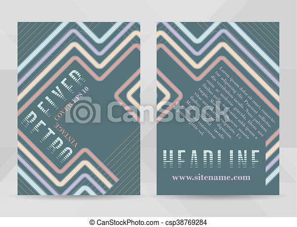 Retro Flyer Template A Size Business Brochure Cover  Vector