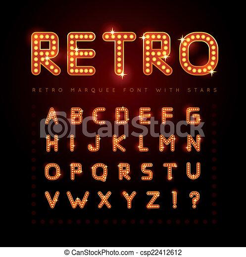 Retro font - csp22412612