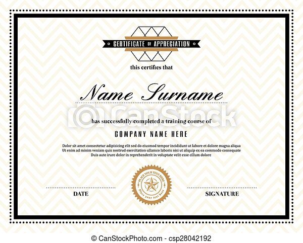 certificate of stock template