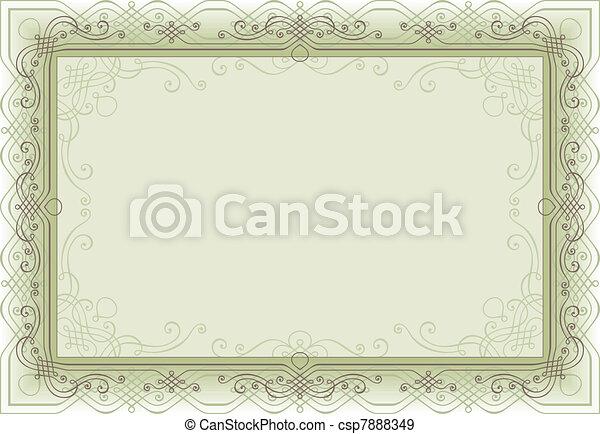retro frame - csp7888349