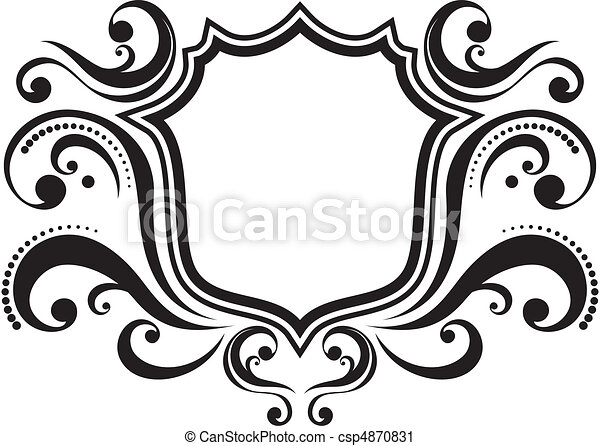 retro frame blank ornamental emblem with classic design vector rh canstockphoto com ornamental victorian metal roof ridge ornament vector