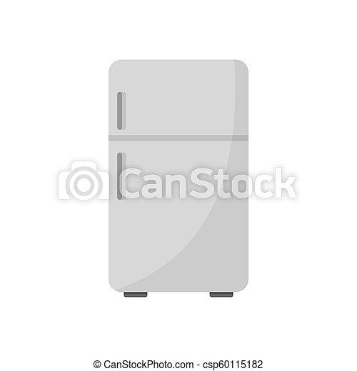 Retro fridge icon, flat style - csp60115182
