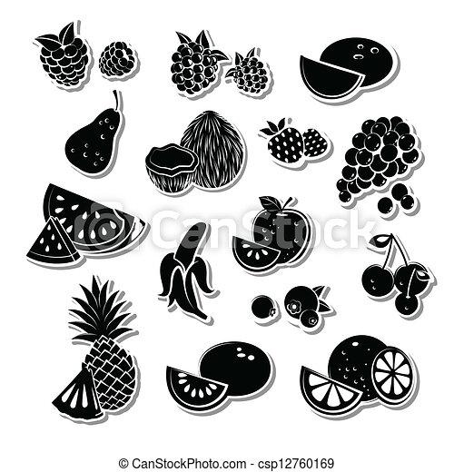 Retro fruit set - csp12760169