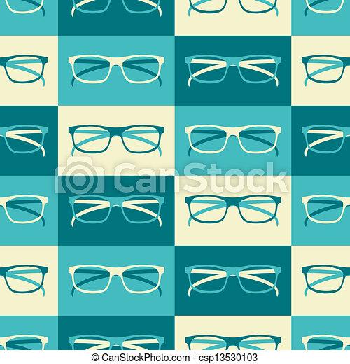 retro, fundo, óculos - csp13530103