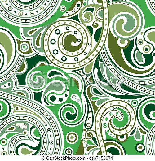Retro Funky Scroll Pattern 1 Illustration Of Seamless