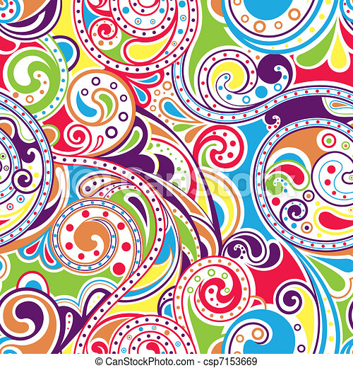 Retro Funky Scroll Pattern 4 - csp7153669