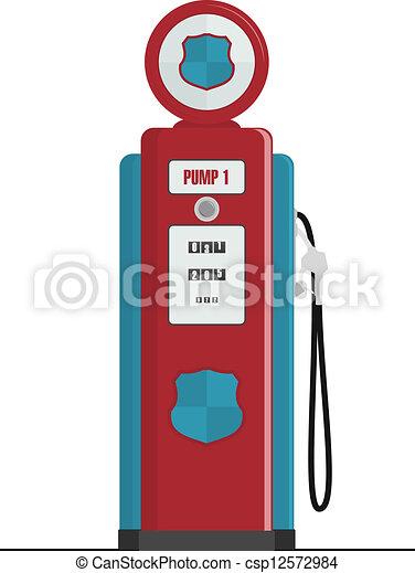 Retro Gas Pump - csp12572984