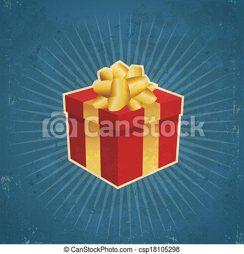 Retro Gift Box - csp18105298