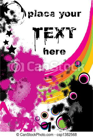 retro grunge background - csp1382568